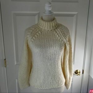 Sweaters - Knit Long Sleeve Sweater in Pale Yellow.